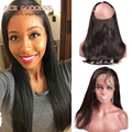 7A 360 Elastic Band Lace Frontal Malaysian Virgin Lace Frontal Straight Closure 360 Lace Frontal Closure Malaysian Straight Hair