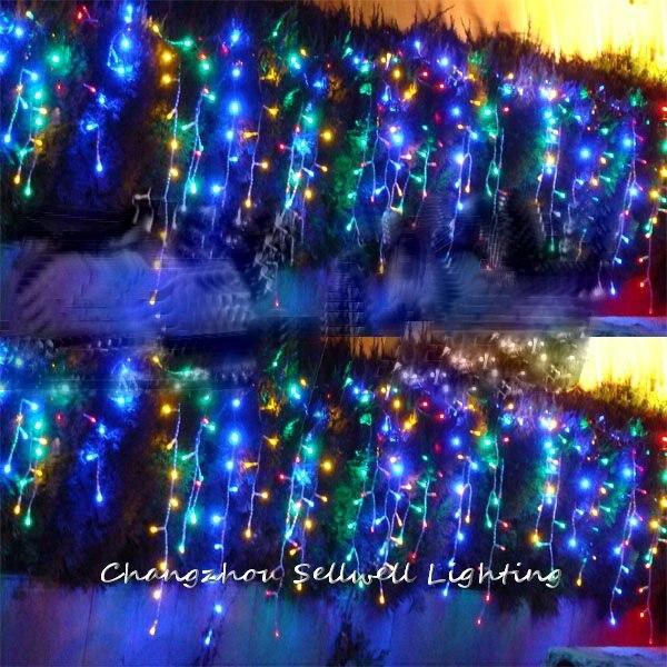 50m estrecho Cinta De Organza-colores de la Navidad Craft Cinta