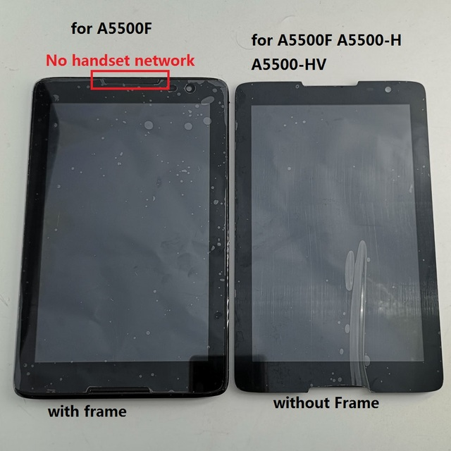 8 inch For Lenovo IdeaTab A8-50 A5500 A5500F A5500H A5500HV LCD Display Monitor Touch Screen Digitizer Glass Assembly with frame
