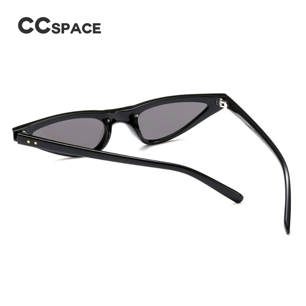 CCSPACE 7 Colors Small Frame Oval Sunglasses Rivet Women Very Light ...