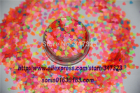 Mix 3MM Neon Color Solvent Resistant Glitter HEART Shape Glitter For Nail Polish Acrylic Polish And