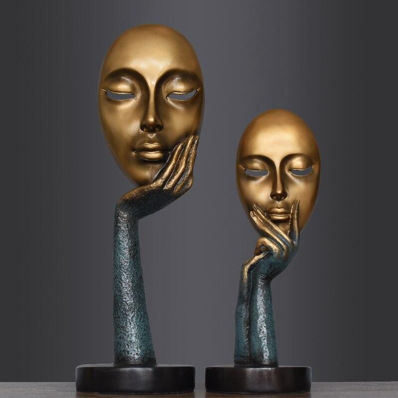 Bureau de style européen Salon Bureau Ornement Décor Sculpture D'art Rétro Résine Artisanat Décoration De La Maison Accessoires - 2