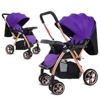 Новорожденных Детские коляски 3 в 1 Высокая Пейзаж складной Автокресло Travel Кабриолет ручка Портативный легкие коляски дорожная сумка для ко