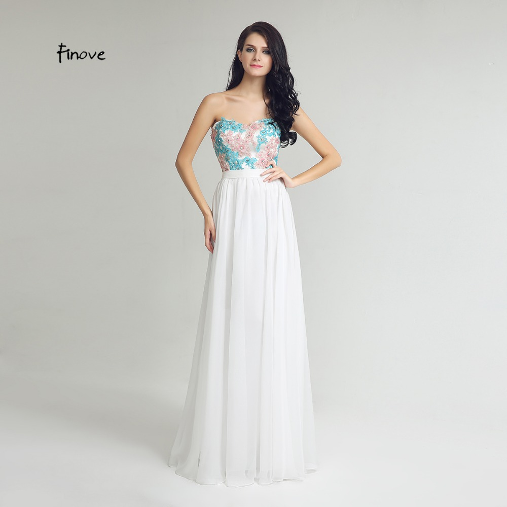 High quality prom style bridesmaid dresses promotion shop for high chiffon appliques bridesmaid dresses 2017 new style sweetheart a line formal womens white long prom dresses vestido de noiva ombrellifo Images