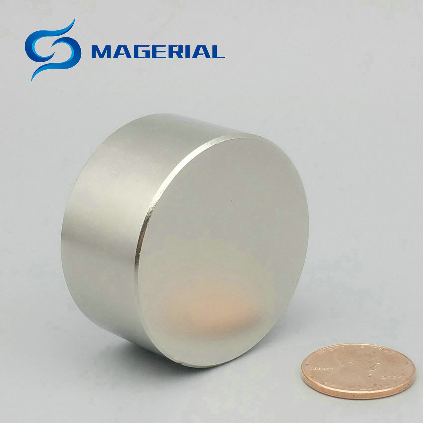 1 pack Grade N42 NdFeB Disc Magnet Diameter 40x20 mm 60.7kg Pulling Neodymium Permanent Magnets NiCuNi Plated Axially Magnetized