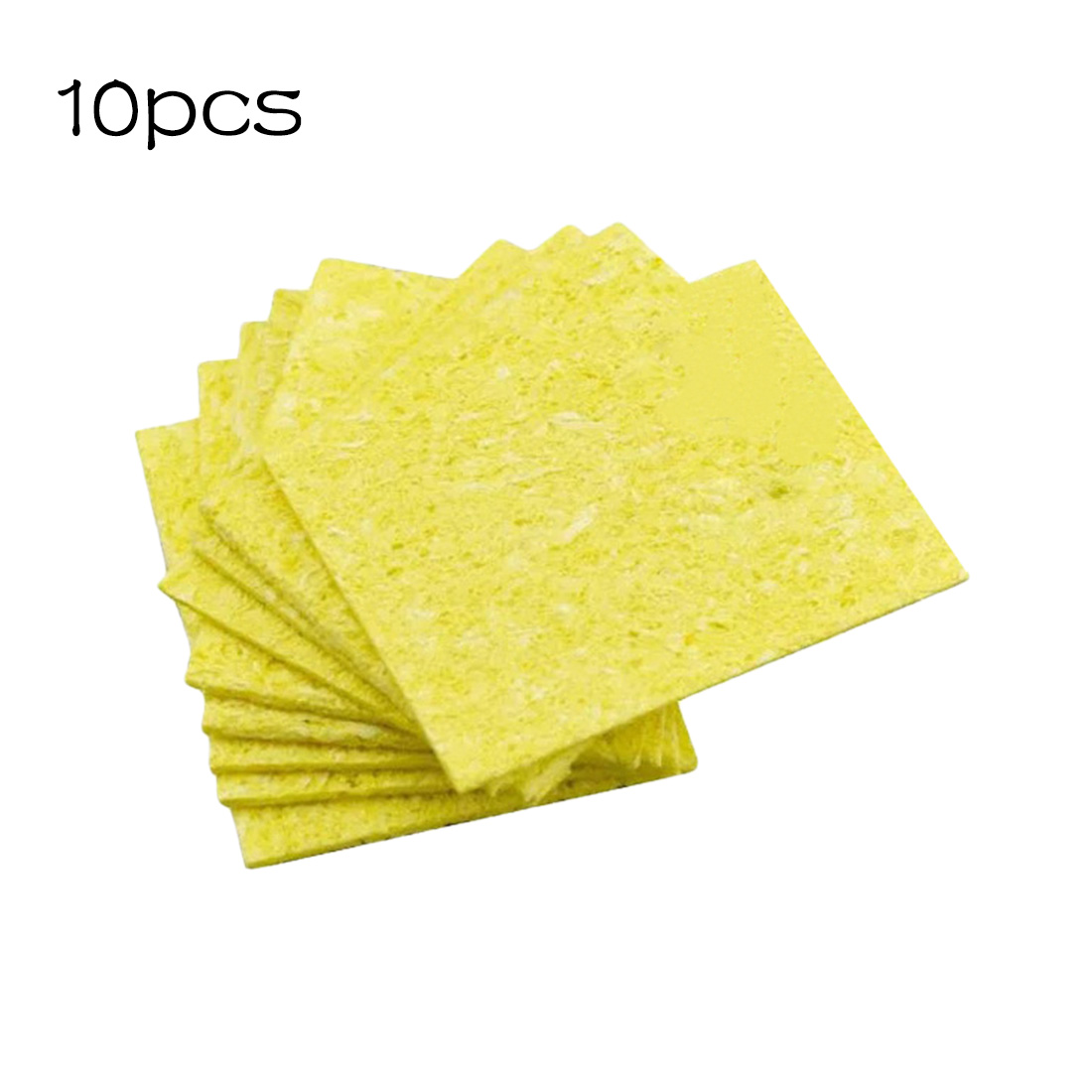 10pcs High Temperature Enduring Condense Electric Welding Soldering Iron Cleaning Sponge Yellow Welding Accessories wlxy wl 002 mini soldering iron stand w cleaning sponge black yellow