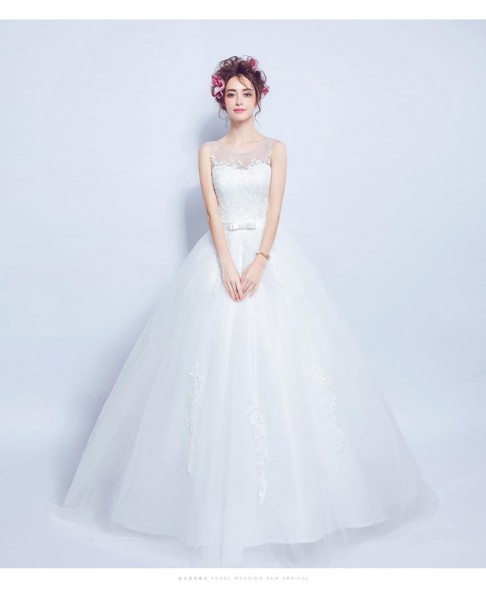 Angel Wedding Dress Marriage Bride Bridal Gown Vestido De Noiva 2017 Lace, flowers, perspective, backless 612 10