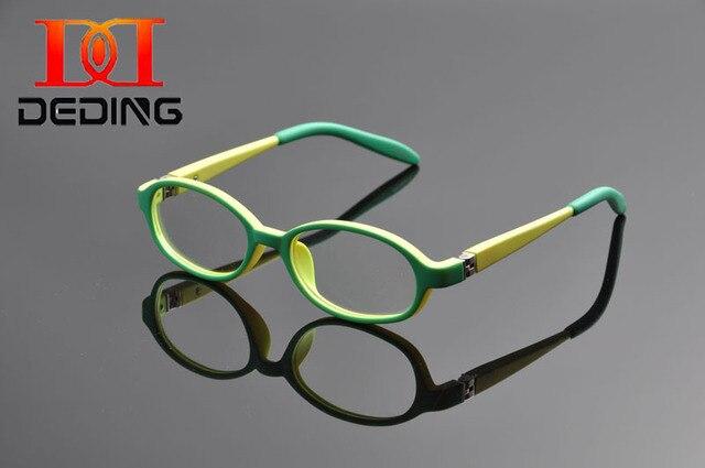 Deding красочный дети TR90 пластиковые прозрачные линзы очки мальчики девочки миопия оптических стекол кадр с пружинным шарниром размер 43 мм DD1171