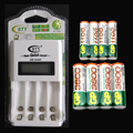 Lcd rápido aa aaa ni-mh cargador de batería rápido rápido 4 unidades gp 3600 aa batería + 4 unidades gp 1100 aaa 1.2 v batería recargable