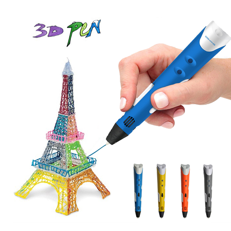 DIY 3D Printer Pen Drawing Modeling Artworks with ABS Filament Building Crafting Arts Printing Pen Novelty Product Gift for Kids myriwell 3d pen diy 3d printer pen drawing pens 3d printing best for kids with abs 100m filament 1 75mm christmas birthday gift