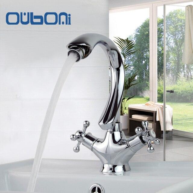 US $45.2 48% OFF OUBONI Luxus Bad Wasserhahn Bau & Immobilien  Einlochmontage Deck Montiert Badezimmer Becken Waschbecken Wasserhahn in  OUBONI Luxus ...