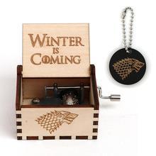Прямая, резная черная музыкальная шкатулка из Звездных войн, ручная игра на трон, Кахас, Mecanicas De Madera, подарок на Рождество, день рождения