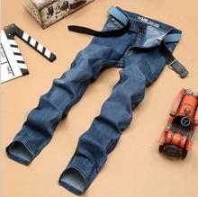 2016 новые ожидаемые джинсы весна лето джинсы недавно стиль известный бренд джинсы хлопок мужчины джинсы