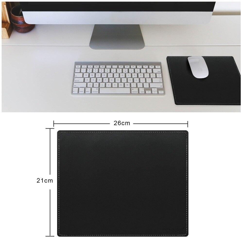 26x21 cm Wasserdichte PU Leder maus pad für Computer büro PC loptop notbook tisch maus matte kleine gaming mousepad-Schwarz