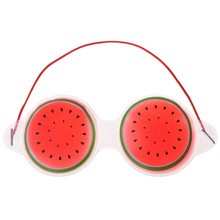 DUAI Cute Fruit Ice Gel Eyepatch Cold Pack Hot Cool Soothing Massage Cover Sleep Eye Mask Watermelon Lemon Kiwifruit(China)