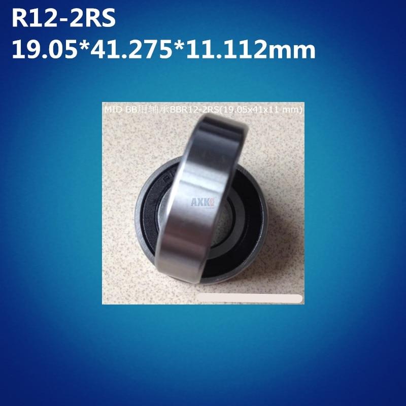 Free Shipping 2pcs ABEC-5 R12-2RS (19.05*41.275*11.112m) BBR12 Balls Bicycle Bottom Bracket Repair Parts R12 2RS Ball Bearings