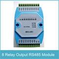 8RO Модуль 8 Канала Релейный Выход Изолированный RS485 Modbus RTU протокол Связи RS485 к Ethernet