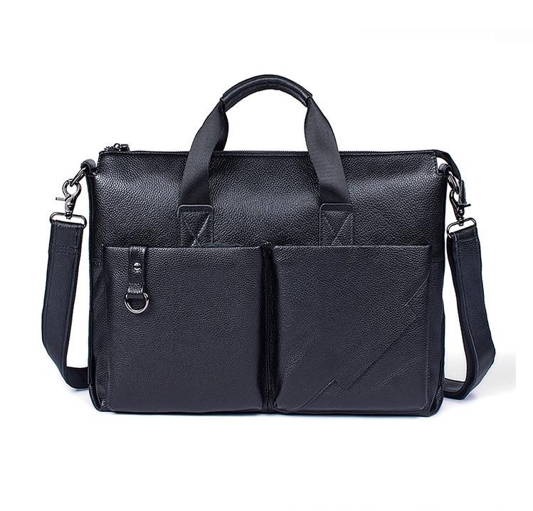 Aktentasche Handtasche Leder Echtes Laptop Uniego Crossbody Messenger Männlichen Hb144 Männer Männlich Umhängetasche tasche Hochwertigen Bags PftBnwqBd
