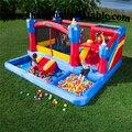 Discount hotsale kindergarten Creative children indoor playground inflatable bounce house and slide combo