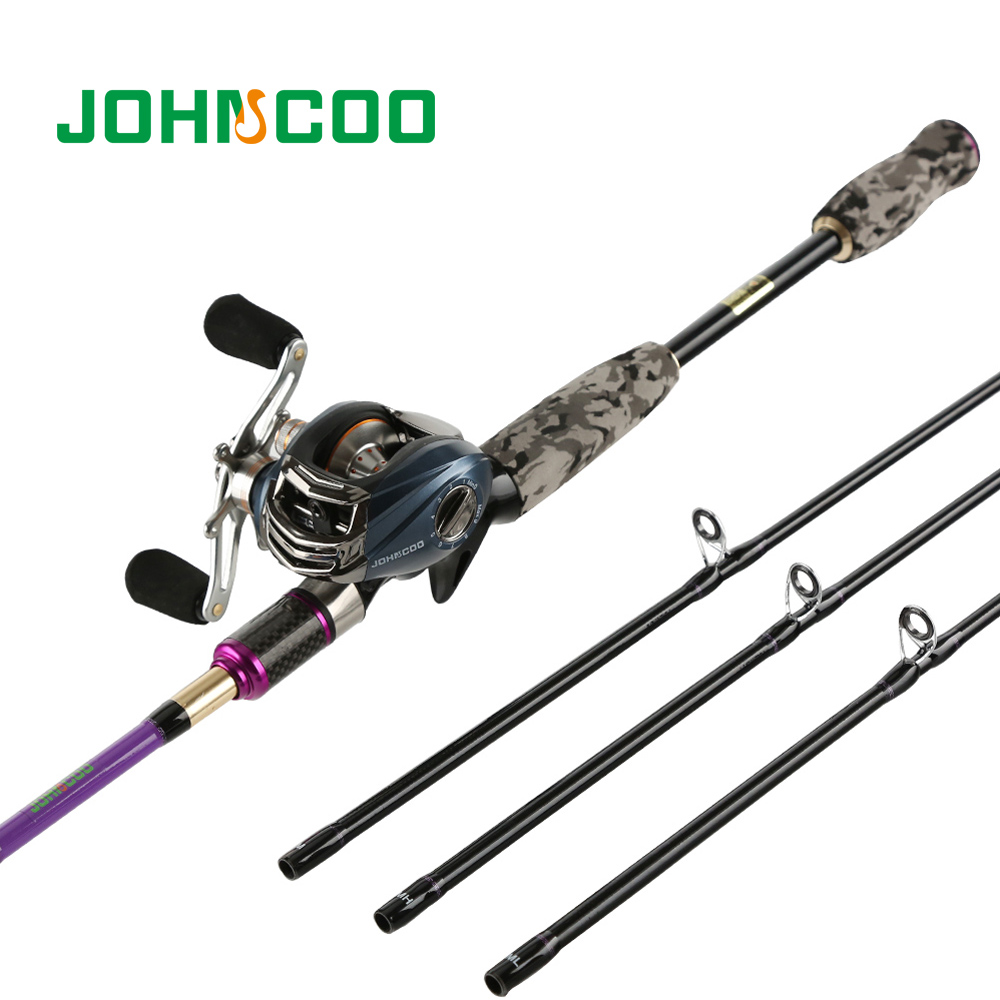 Casting Fishing Rod with casting Reel M MH ML Power 3 Tips 100 Carbon Rod Lure