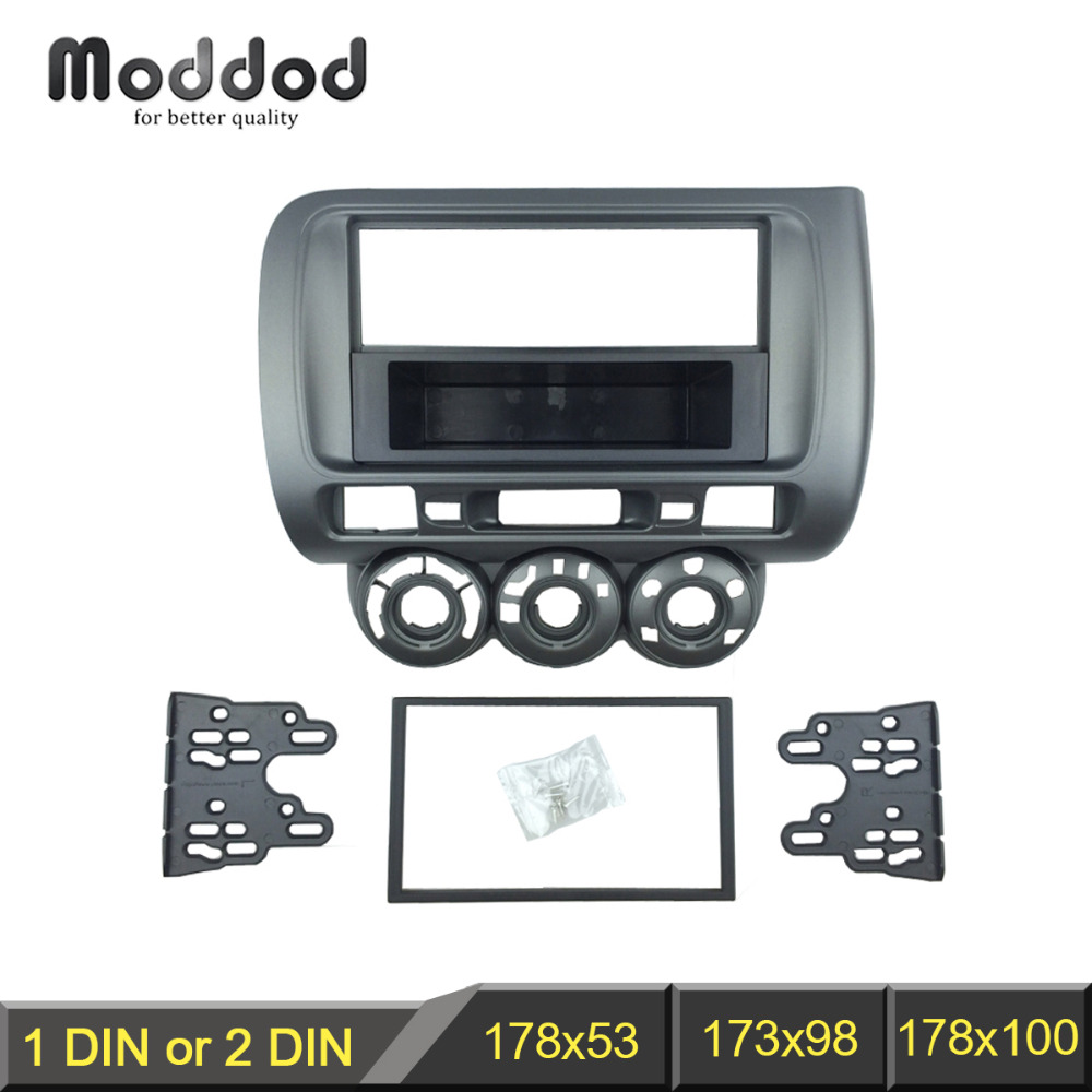 Image 2 - Radio Fascia for Honda Jazz City One Double Din DVD Stereo CD Panel Mount Installation Trim Kit Frame Bezel-in Fascias from Automobiles & Motorcycles