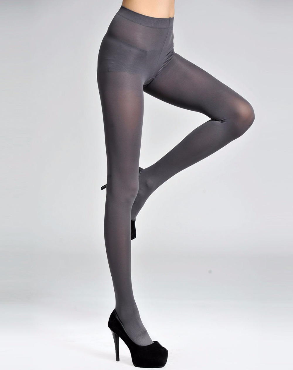 Hot Sale Tights Ultra Elastic New Womens Silk Stockings Pouch Sheath Underwear Stocking For Sexy Stockings Gray