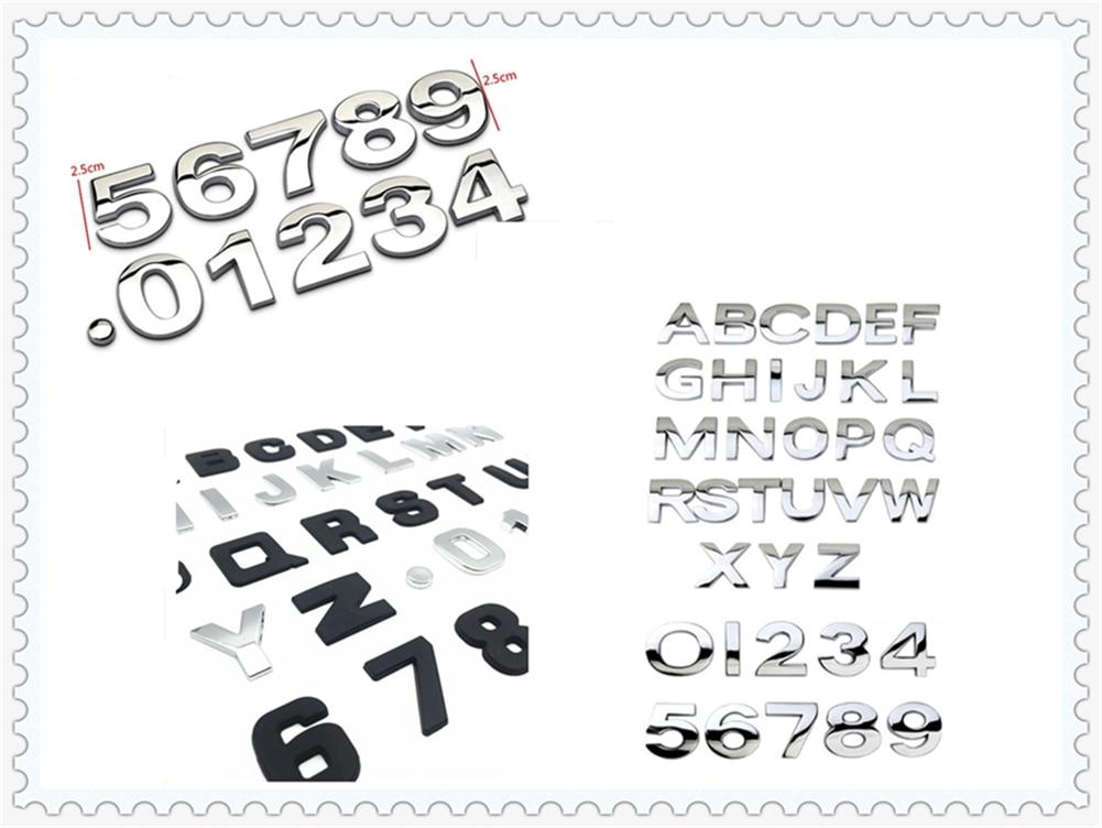 Di alta qualità auto styling 3D metallo digitale lettera di vettura sticker nero argento per Opel Astra g/gtc/j /h Corsa Antara Meriva Zafira