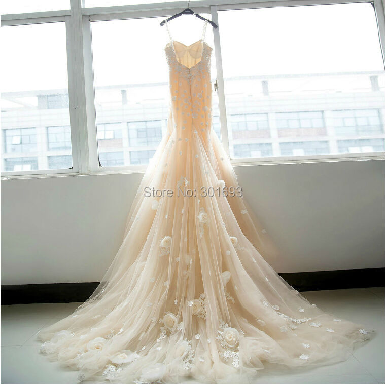 Popular Champagne Colored Vintage Lace Wedding Dresses-Buy Cheap ...