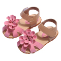 Baby Girl Sandals 2016 Summer New Casual Solid Flower Beach Sandals Kids Hollow Soft Bottom Kids Shoes 9078Z