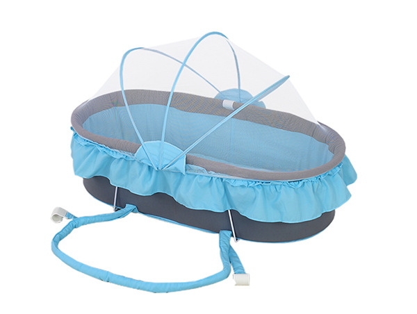 Holycat Baby Hand Basket Folding Portable Sleeping With Mosquito Net baby cradle portable car safety basket multi function coax sleeping basket with mosquito net discharge cart