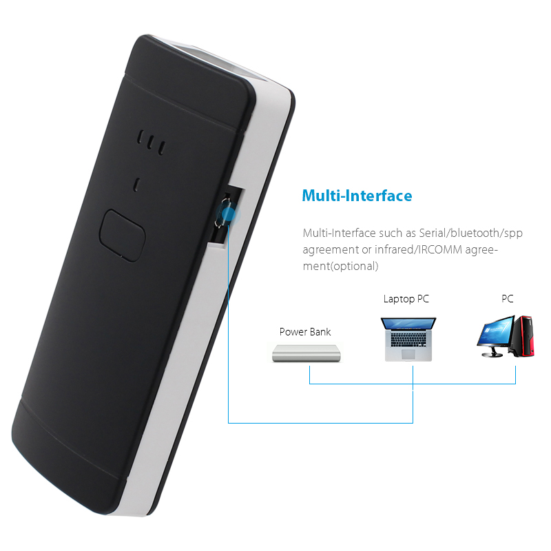 US $35 49 29% OFF|Xeumior Portable Pocket Wireless 2D Scanner QR Code  Reader Bluetooth 2D Barcode Scanner For Android IOS Scanner Barcod  Handheld-in