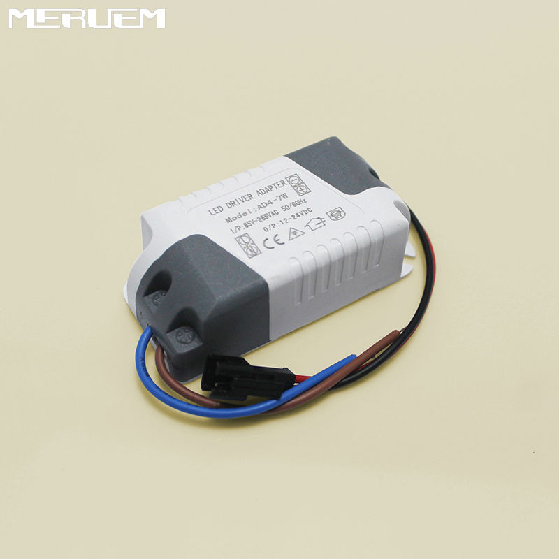 Free shipping (4-7)x 1W 7x1W constant current Transformer AC85-265V 4W 5W 6W 7W Lamp Driver Power Supply  for Led Lights CE