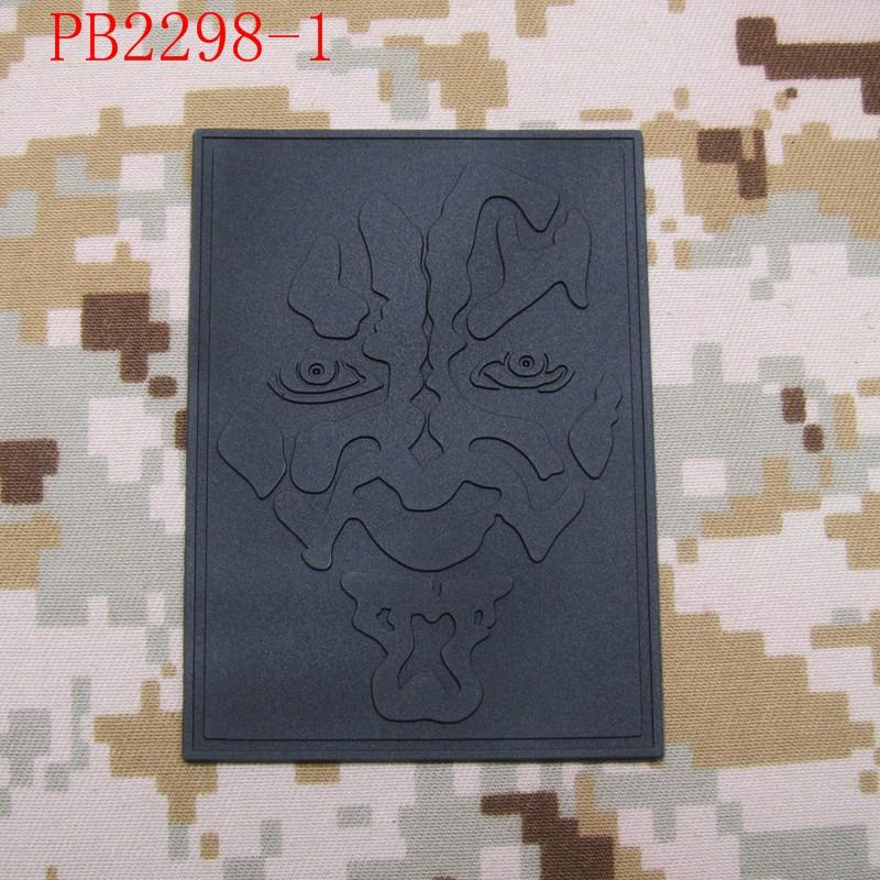 darth maul Logo Tactical Morale 3D PVC patch White Red Grey - Արվեստ, արհեստ և կարի - Լուսանկար 5