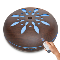 500ML Essential Oil Aroma Diffuser Ultrasonic Humidifier With Remote Control LED Lights For Home Ultrasonic Mist