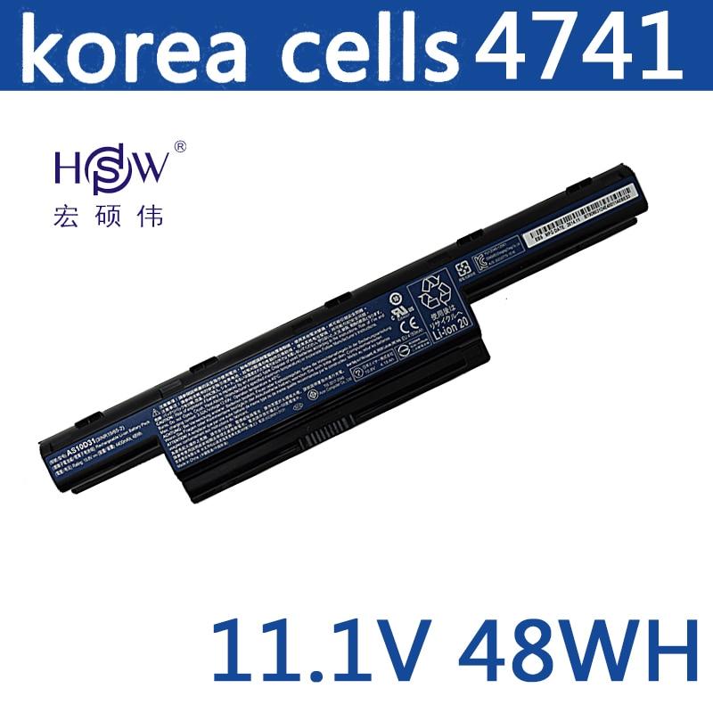 HSW battery for acer AS10D31 AS10D51 AS10D81 AS10D75 AS10D61 AS10D41 AS10D71 Aspire 4741 5742G 5552G 5742 5750G 5741G