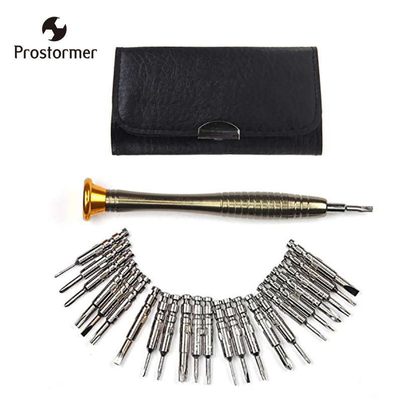 Prostormer 25 In 1 Torx Screwdriver Set Mini Repair Tool Kit Precision Screwdriver Tool Set for PC,Glasses, Mobile Phone,Watch bst 8925 24 in 1 precision screwdriver tool set tablet pc phone repair