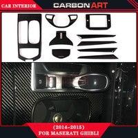 Для maserati ghibli 2014 2015 углерода cf материал внутренней отделки accessorries для автомобилей интерьера basic edition