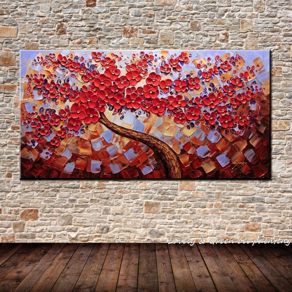 100% Қолмен боялған заманауи гүлдер - Үйдің декоры - фото 6