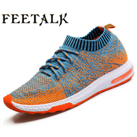 2017 New Summer Sports Flyknit Racer Running Shoes For Men Women Breathable Men SAthletic Sneakers Krasovki