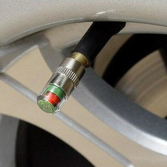 1Pc Car Monitor Valve Stem Cap Sensor Indicator Eye Alert Automobile Tire Pressure Warning Device 2.4Bar CSL2017