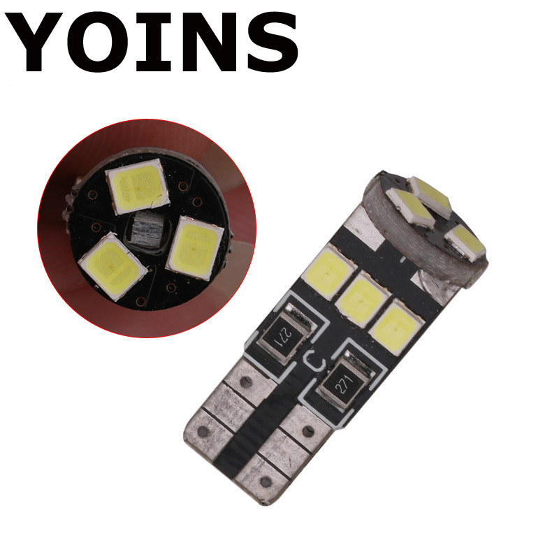 100x Car <font><b>Led</b></font> T10 W5W 3528 9 <font><b>LED</b></font> 3W Error Free <font><b>Canbus</b></font> Marker Bulb Xenon Light For Car <font><b>5W5</b></font> Dome Festoon C5W C10W Car-styling image