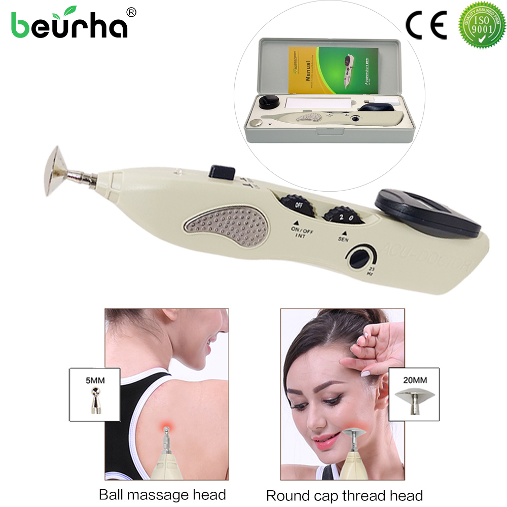 110 220V Acupuntura Pen Point Detector Electronic Acupuntura Massage Pain Therapy Electric Acupuncture Meridian Pen Health
