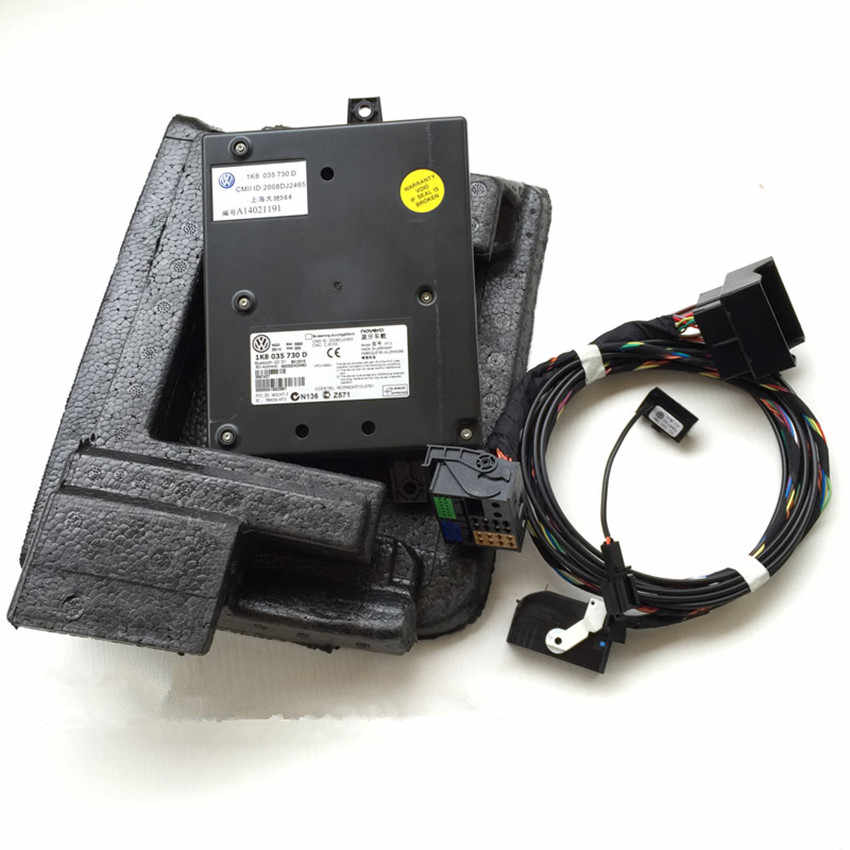 1K8 035 730 D 9W2 Bluetooth Module+Harness With Microphone 1K8 035 730 D For VW Golf MK6 Jetta MK5 Fit RCD510