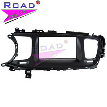 Topnavi doble DIN coche Marcos panel para KIA K5 2013 adaptador CD TRIM panel interfaz estéreo Dash Radios fascia en kit de montaje de tablero