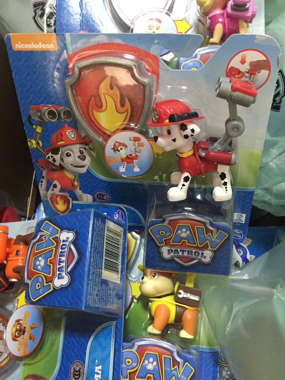 Paw Patrol Marshall Ryder Chase Action Figure Pack Pups 3