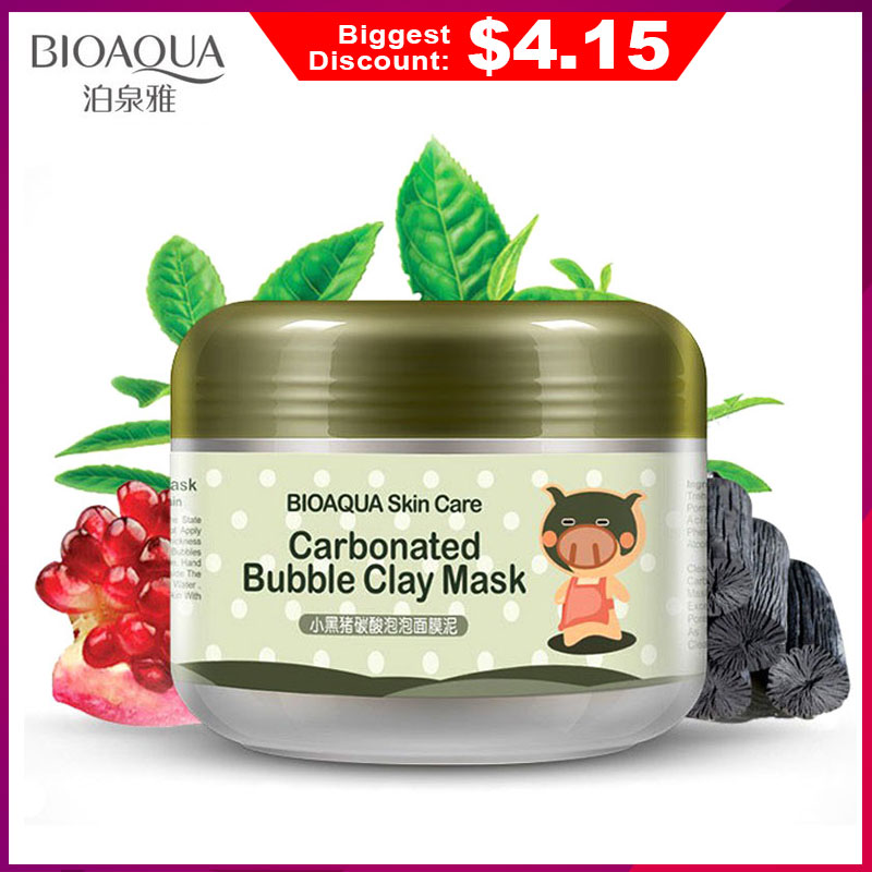 Bioaqua Skin Care Carbonated Bubble Clay Mask For Face Nutrition Repair Face Cream Whitening Hydrating Moisturizing Facial MasksBioaqua Skin Care Carbonated Bubble Clay Mask For Face Nutrition Repair Face Cream Whitening Hydrating Moisturizing Facial Masks