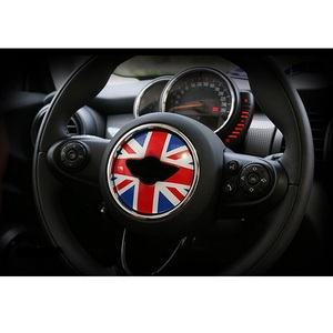 Image 1 - Union Jack Steering Wheel Center Sticker Decals Decoration for BMW MINI Cooper JCW F55 F56 Interior Car Styling Accessories
