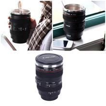 Kamera Objektiv Edelstahl Tasse 24-105 Kaffee Tee Reise Tasse Thermos & Objektiv Deckel