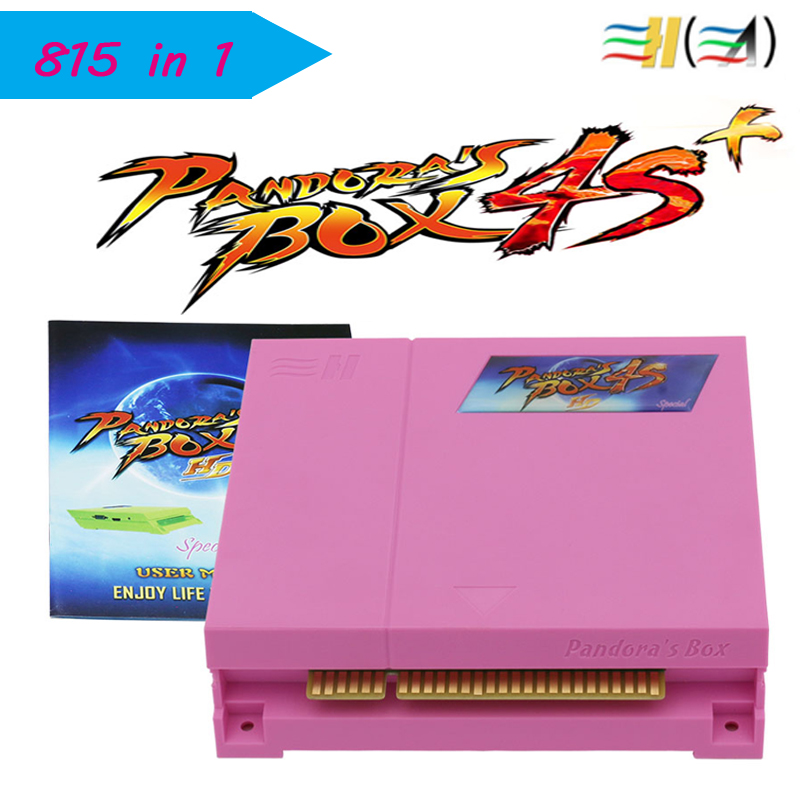 Pandora Box 4s plus New Arrival 815 in 1 Jamma Arcade Game cartridge jamma Multi game board WITH vga and HDMI OUTPUT 2pcs new arrival amusement multi video vga game pandora s box 3 jamma multi game pcb board 520 in 1