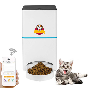 Pet Dog Cat Automatic  Feeder 2.4Ghz Wifi Pet Feeder With App for Portion Control & Feeding Time Setting Dog/Cat Food Dispenser